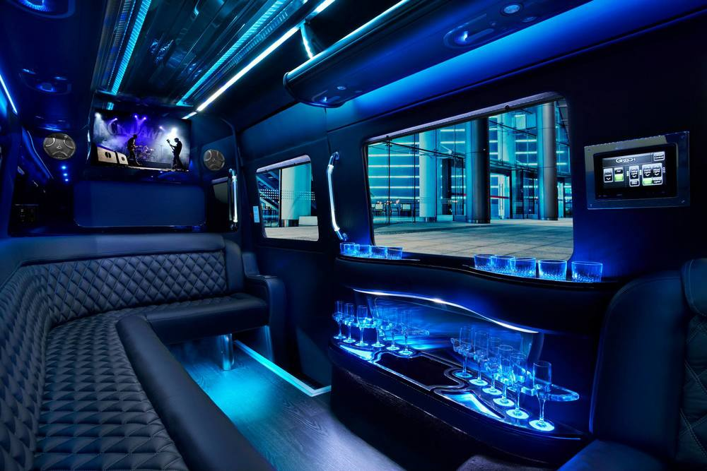 2016 Mercedes Sprinter Limousine (10-12 passengers) - San Francisco Party Buses in Party Bus Bay ...